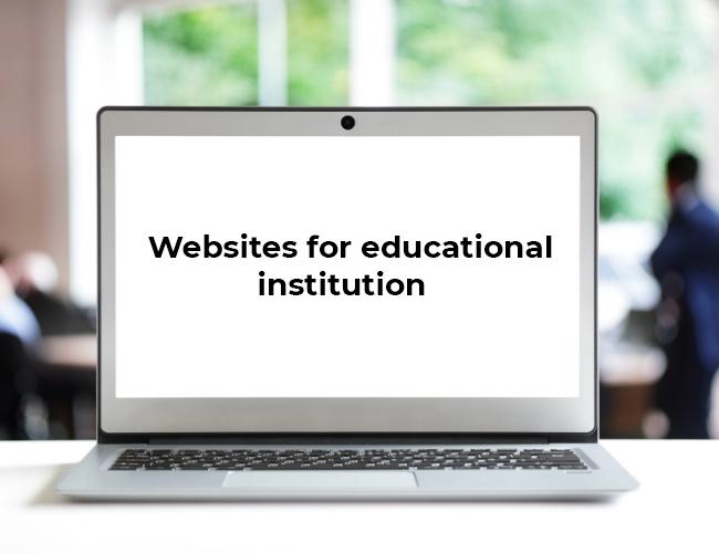 Websites for educational  institution